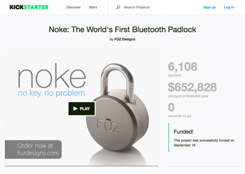 Noke: The World's First Bluetooth Padlock by FŪZ Designs — Kickstarter