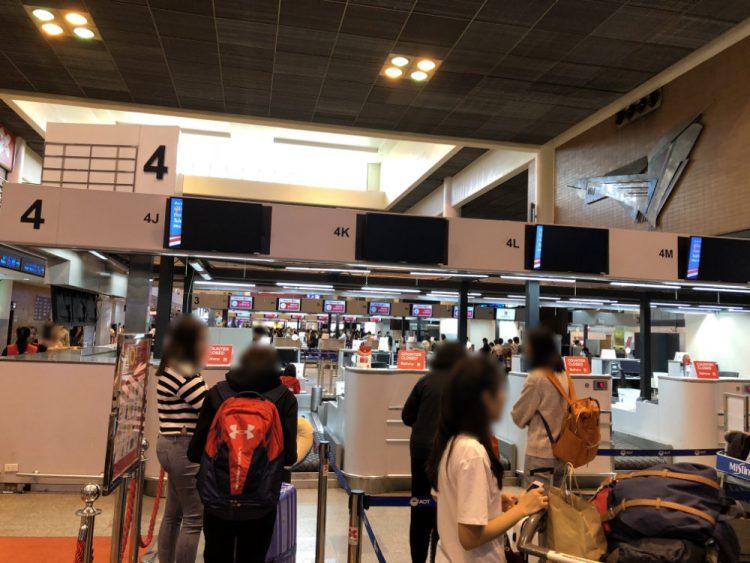 ドンムアン空港のエアアジア チェックインカウンター