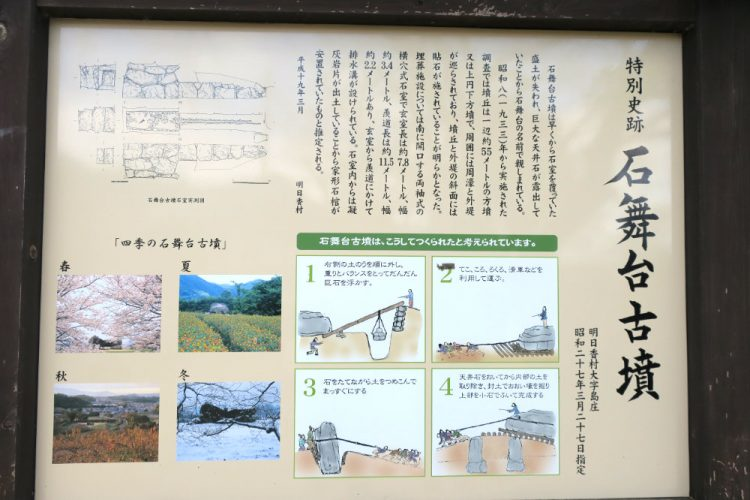 石舞台古墳の解説板
