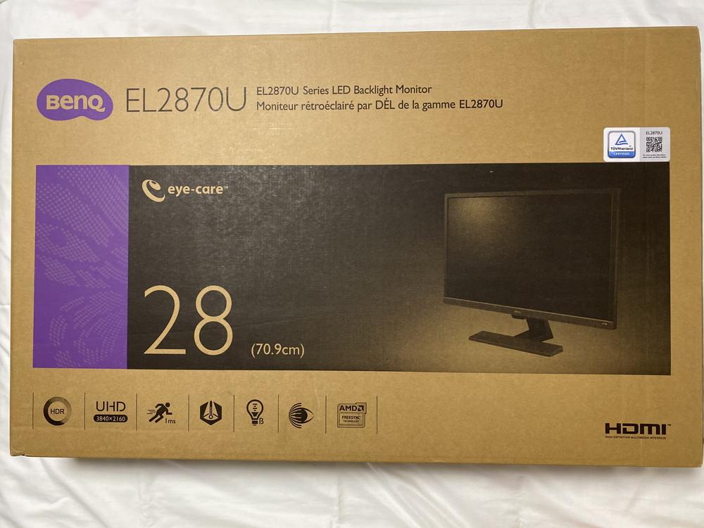 BenQ ゲーミングモニター ディスプレイ EL2870U 外箱