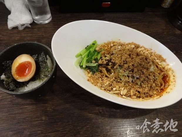 汁なし担々麺と半熟たまごのせご飯