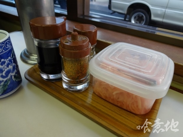 紅生姜、七味唐辛子他