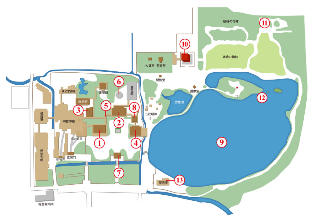 大覚寺 境内地図