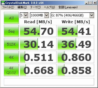 マザーボード接続HDD 1000MB