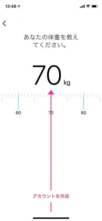 Fitbit 体重入力