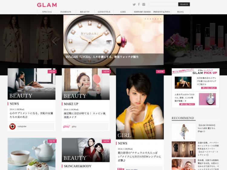 Glam.JP トップページ