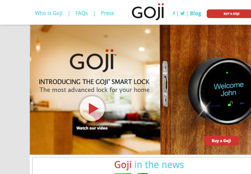 Goji Smart Lock for the Home