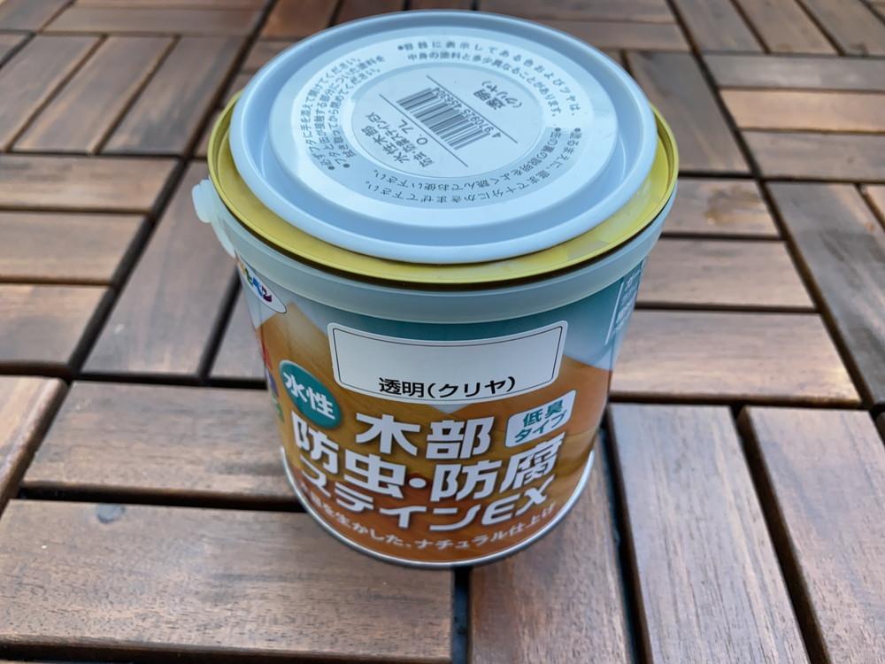 アサヒペン 水性木部防虫・防腐ステインEX 0.7L 透明(クリヤ)