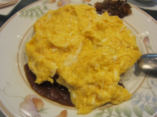 オムレツは卵がトロトロ