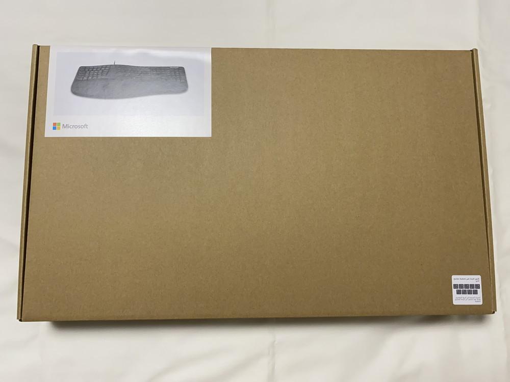 マイクロソフト エルゴノミック キーボード  LXN-00018 外箱