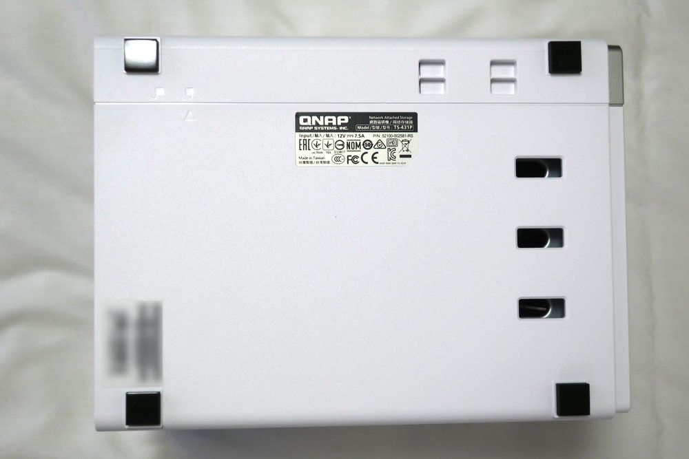 QNAP TS-431P 本体底側