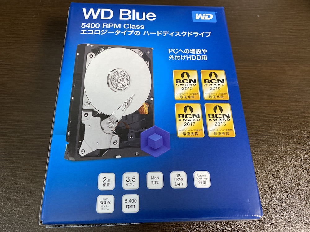 Western Digital WD Blue 内蔵HDD 3.5インチ スタンダードモデル 2TB SATA 3.0(SATA 6Gb/s) WD20EZAZ-RT