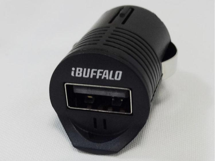 iBUFFALO (iPhone6s/6,iPhone6s Plus/6 Plus動作確認済) 超小型USBシガーチャージャー 充電アダプター1ポートタイプ ブラック BSMPA07BK