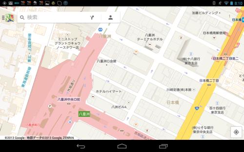 Googleマップ 東京駅周辺地図