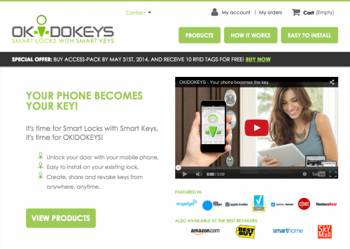 Smart Locks with Smart Keys - OKIDOKEYS