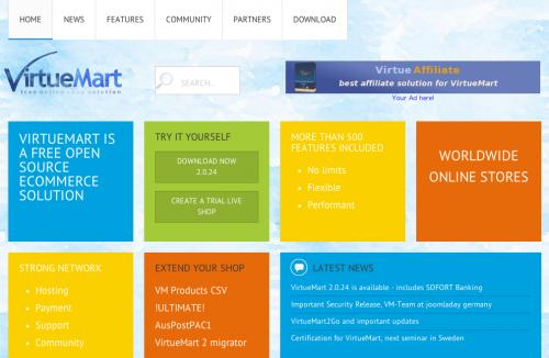VirtueMart 公式サイト