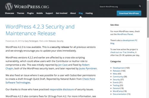 WordPress 4.2.3