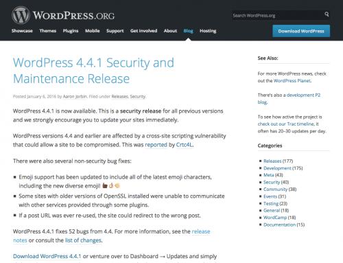 WordPress 4.4.1