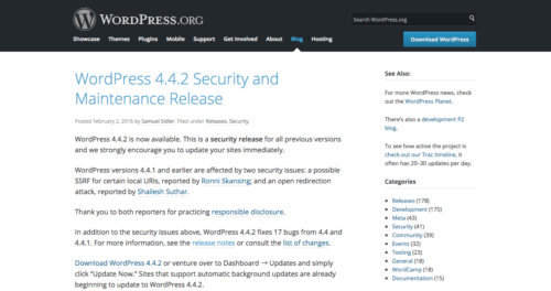 WordPress 4.4.2