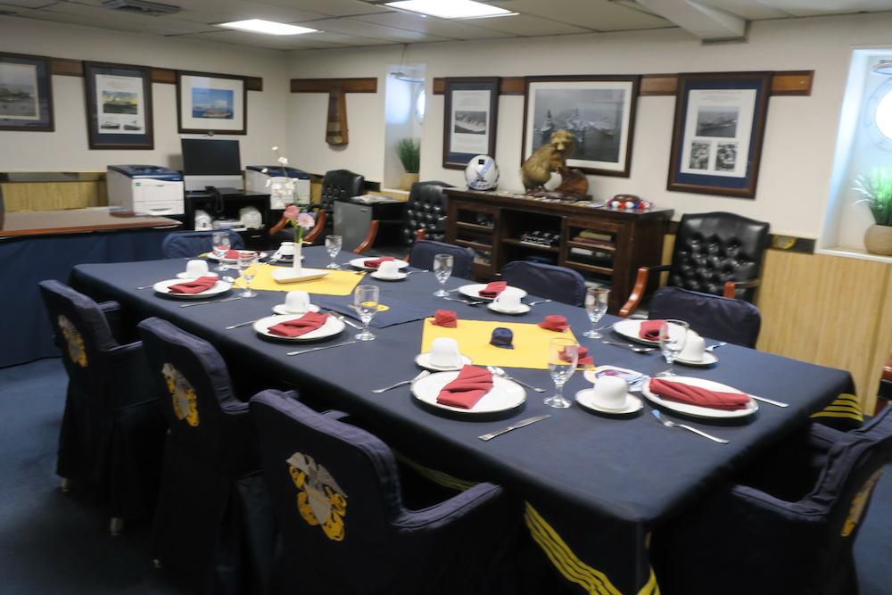 士官用の会議室?