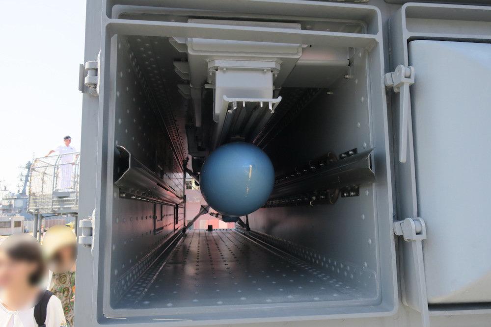 訓練用のRIM-7M(シースパロー)弾頭