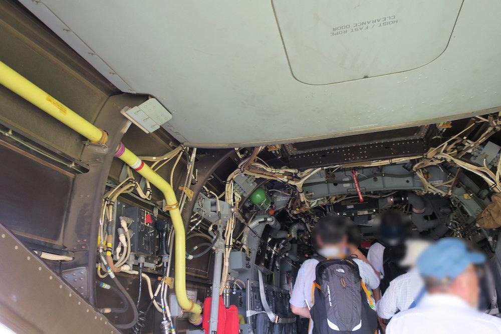 Osprey(オスプレイ)のキャビン内部