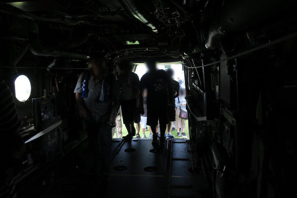 Osprey(オスプレイ)のキャビン内部から