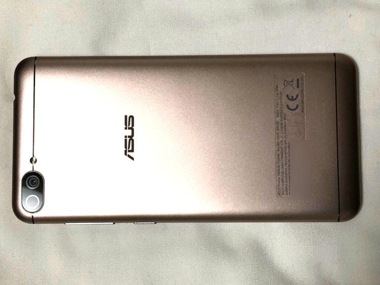 ZenFone4 Max本体背面