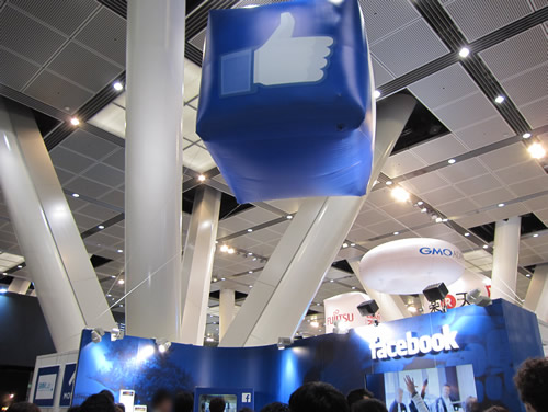 facebook ブース