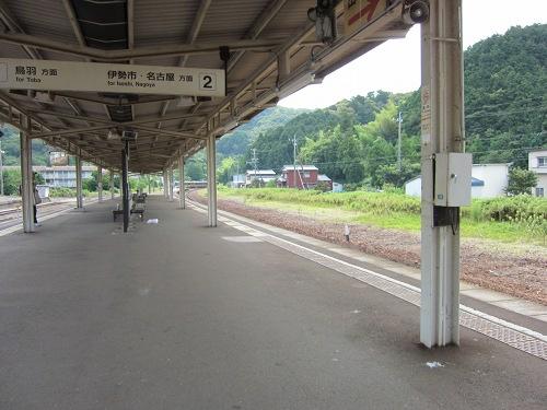 二見浦駅ホーム