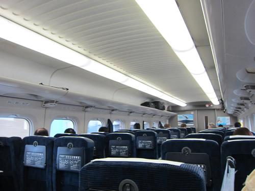 新幹線「ひかり」車内