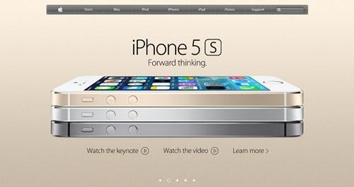 Appleサイト iPhone5s