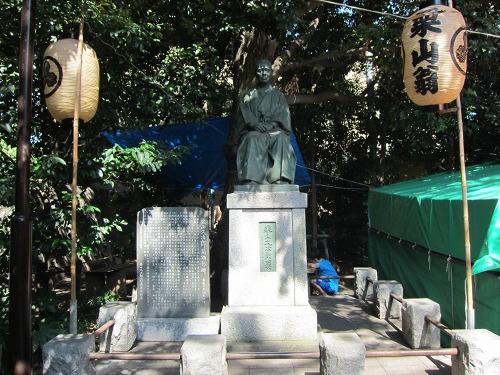 自由が丘熊野神社 栗山久次郎像