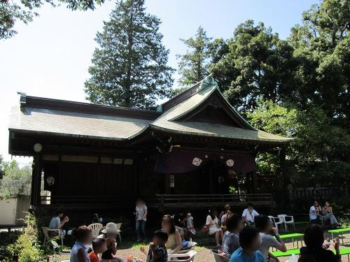 自由が丘熊野神社 舞台