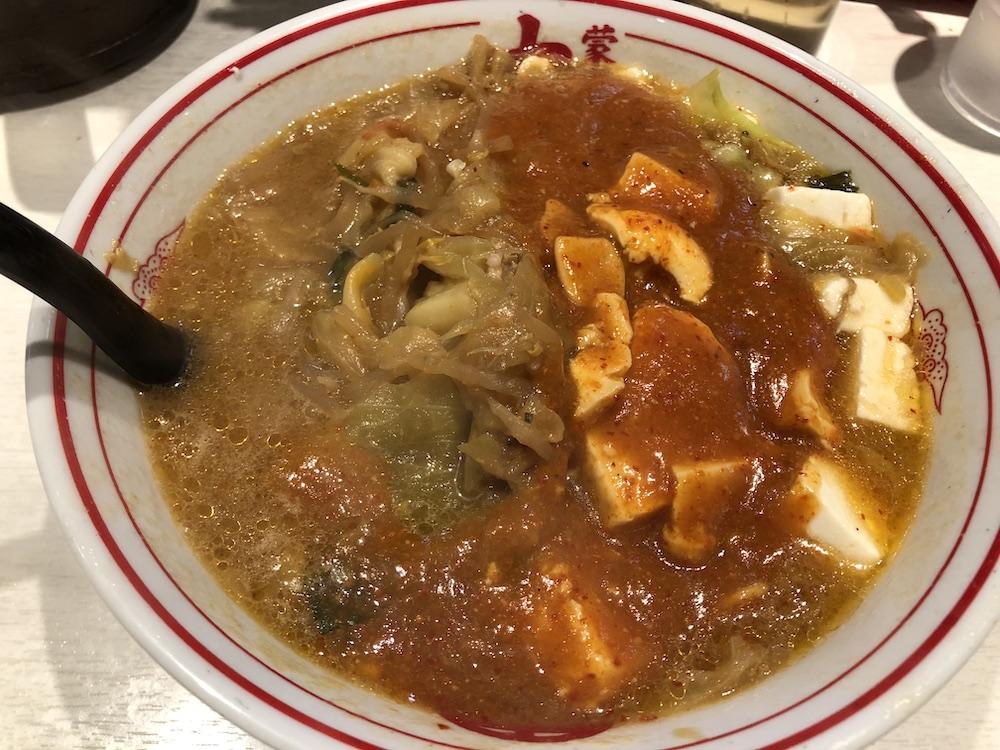 麺を豆腐に変更にした蒙古タンメン