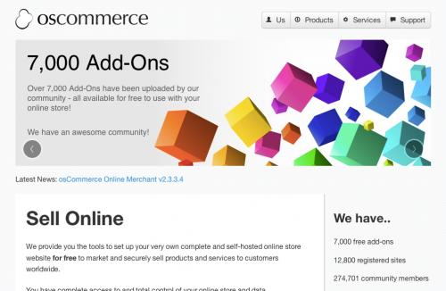 osCommerce 公式サイト