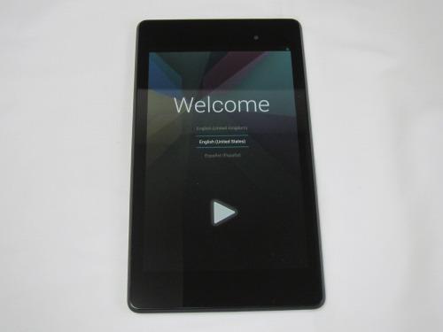 Google Nexus 7 2013 初期起動画面