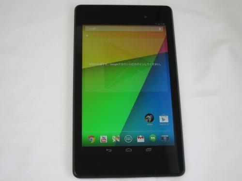 Google Nexus 7 2013 通常起動画面