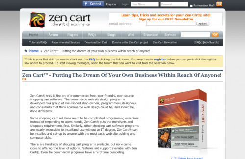 Zen Cart 公式サイト